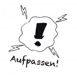 """Pädagogischer Stempel - Motiv """"Aufpassen"""""""