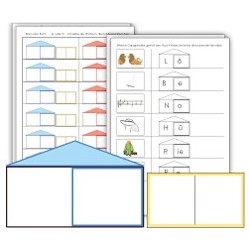 Wo wohnt Dein Wort - Lernspiel + Arbeitsblätter (Kopiervorlagen)