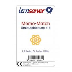 Lernserver-Spiel Memo-Match: Umlautableitung a-ä, mittel, ohne Bild