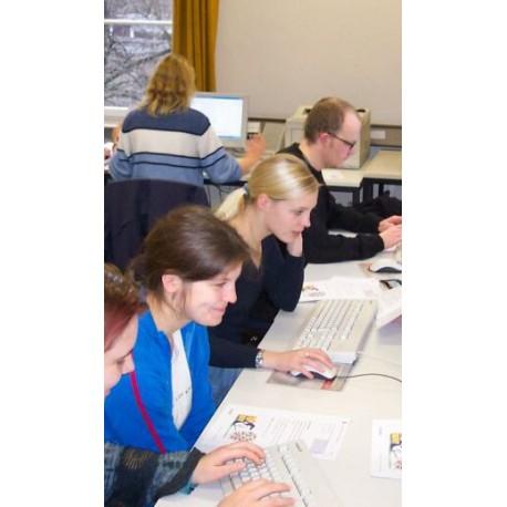 Eingabe der Testdaten durch das Lernserver-Team